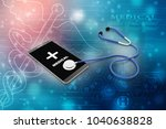 3d rendering stethoscope with... | Shutterstock . vector #1040638828