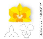 paper orchid flower. vector... | Shutterstock .eps vector #1040639152