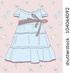 fashionable dress for the girl | Shutterstock .eps vector #104064092