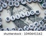 word billion made from small... | Shutterstock . vector #1040641162