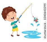 vector illustration of a kid... | Shutterstock .eps vector #1040643295