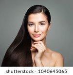 cute woman with beautiful long...   Shutterstock . vector #1040645065