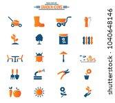 gardening icons set | Shutterstock .eps vector #1040648146