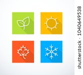 set of season icons. vector... | Shutterstock .eps vector #1040649538
