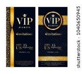 vip party premium invitation...   Shutterstock .eps vector #1040650945