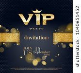 vip party premium invitation... | Shutterstock .eps vector #1040651452
