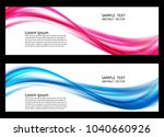 wave blue and pink transparent... | Shutterstock .eps vector #1040660926