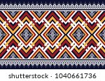 geometric ethnic pattern... | Shutterstock .eps vector #1040661736