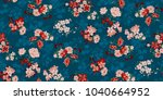 seamless floral pattern in... | Shutterstock .eps vector #1040664952