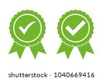 approved certified icon... | Shutterstock .eps vector #1040669416