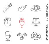 confectionery linear icons set. ... | Shutterstock .eps vector #1040669692