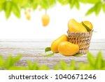 mango fruit in basket on white... | Shutterstock . vector #1040671246