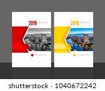 corporate cover design for...   Shutterstock .eps vector #1040672242