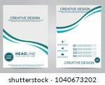 business brochure flyer design... | Shutterstock .eps vector #1040673202