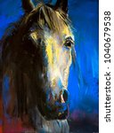 original pastel painting on a... | Shutterstock . vector #1040679538
