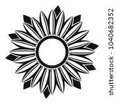 ripe sunflower icon. simple... | Shutterstock .eps vector #1040682352