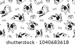 french bulldog seamless pattern ... | Shutterstock .eps vector #1040683618