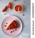 blood orange cake | Shutterstock . vector #1040683825