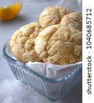 crinkle lemon cookies   Shutterstock . vector #1040685712