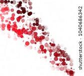bubbles circle dots unique red... | Shutterstock .eps vector #1040686342