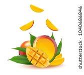 mango fruit for fresh juice ...   Shutterstock .eps vector #1040686846