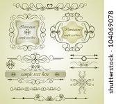 calligraphic elements vintage... | Shutterstock . vector #104069078