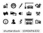 car part set of repair icon... | Shutterstock .eps vector #1040696332