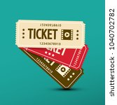 cinema tickets. vector paper... | Shutterstock .eps vector #1040702782