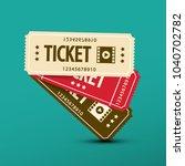 cinema tickets. vector paper...   Shutterstock .eps vector #1040702782