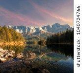 beautiful landscape of alpine... | Shutterstock . vector #1040724766