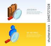 recruitment  human resources... | Shutterstock .eps vector #1040727328