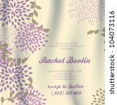 wedding card or invitation with ... | Shutterstock .eps vector #104073116