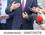 public relations   pr. media... | Shutterstock . vector #1040735278