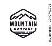 retro vintage mountain sea... | Shutterstock .eps vector #1040741725