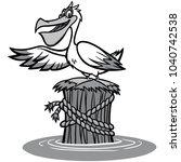 pelican illustration   a vector ...   Shutterstock .eps vector #1040742538