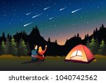 a vector illustration of couple ... | Shutterstock .eps vector #1040742562