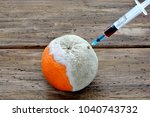 injection of harmful substances ... | Shutterstock . vector #1040743732