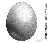 black engraving egg on the... | Shutterstock .eps vector #1040746666