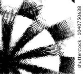 grunge halftone black and white ... | Shutterstock .eps vector #1040750638