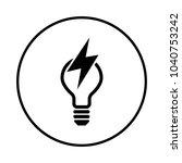 energy icon in  cirlce   Shutterstock .eps vector #1040753242
