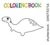 cute dino coloring book. | Shutterstock .eps vector #1040753716