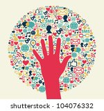 social media success circle... | Shutterstock . vector #104076332