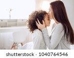sweet kisses. beautiful happy... | Shutterstock . vector #1040764546