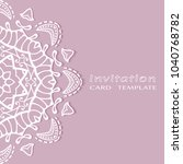 invitation or card template... | Shutterstock .eps vector #1040768782