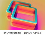 colourful clone icon on candy... | Shutterstock . vector #1040773486