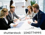 business people conference in... | Shutterstock . vector #1040774995