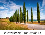 classic tuscan view with... | Shutterstock . vector #1040790415