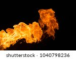 fire isolated on black | Shutterstock . vector #1040798236