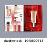 wonder cosmetic set  magazine... | Shutterstock .eps vector #1040800918