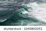 ocean storm with with big windy ... | Shutterstock . vector #1040802052